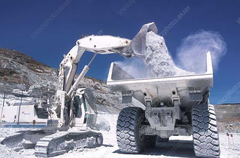 Talc quarrying machines