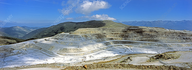 Talc quarry, Luzenac, France