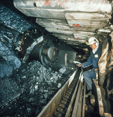 Measuring noise levels in a coal mine