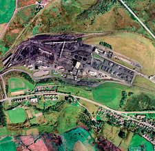 Onllwyn Coal Washery, UK, aerial image
