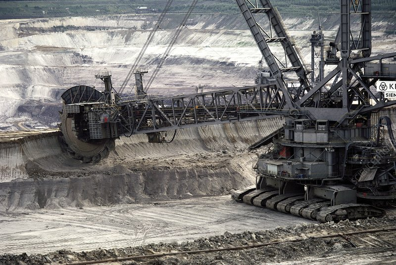 Coal strip mining