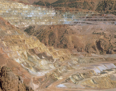 Open cast copper mining in Arizona