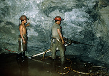 Miners in silver mine, Taxco, Mexico