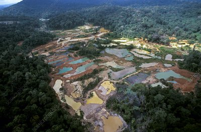 Gold mine, South America