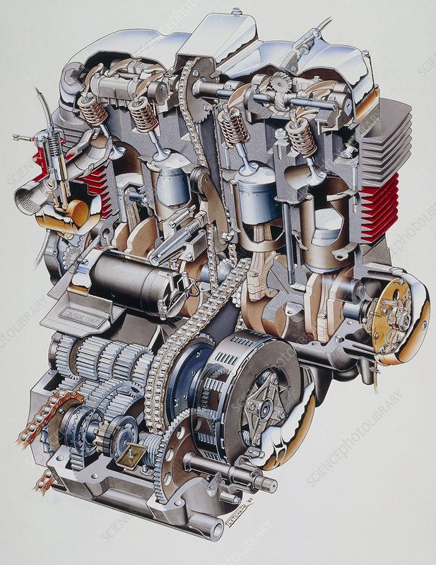 T Cutaway Illustration Of Honda K Motorbike Engine Spl on Bmw E30 Engine Diagram