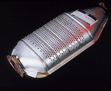 Catalytic converter of a car