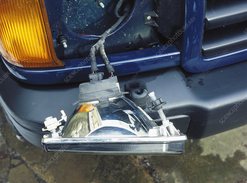 Car headlamp wiring