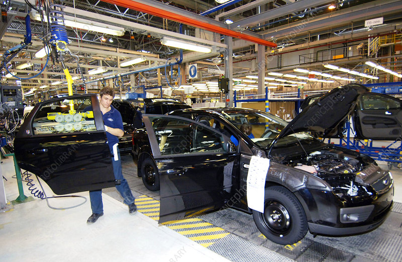Ford Car Assembly Line Stock Image T860 0210 Science Photo Library