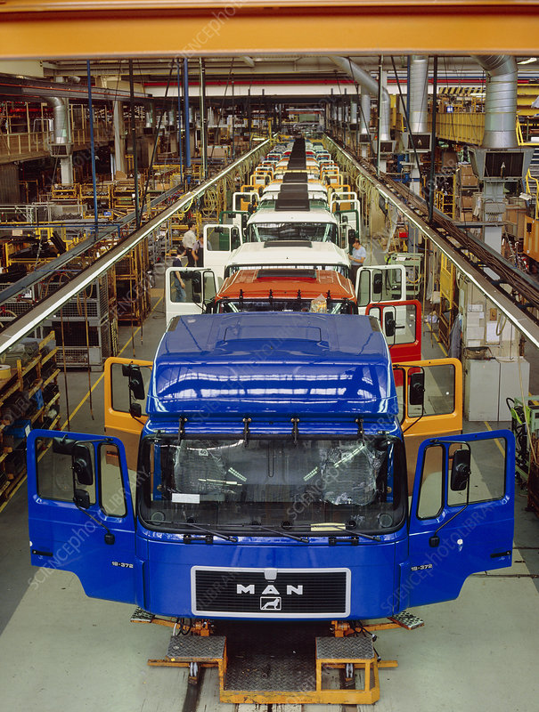 Lorry cab assembly