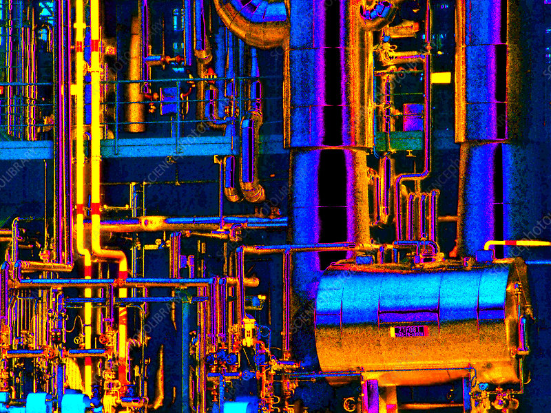 Computer-enhanced view of a chemical plant