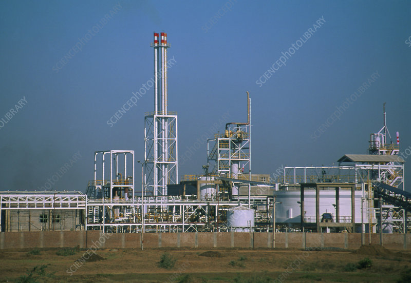 External view of a chlor-alkali chemical factory