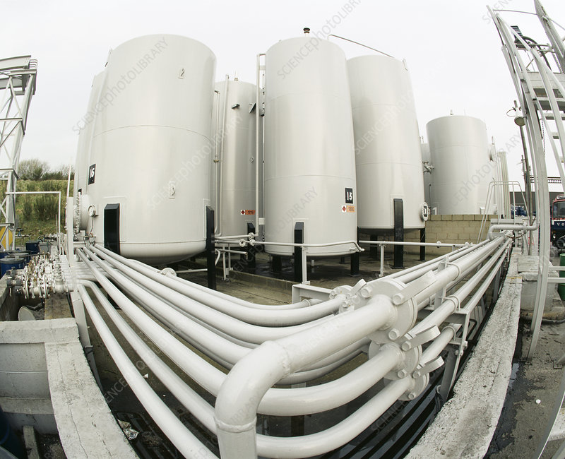 Pipework and chemical tanks