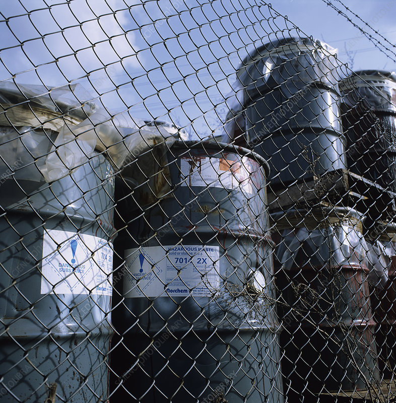 Hazardous waste storage compound