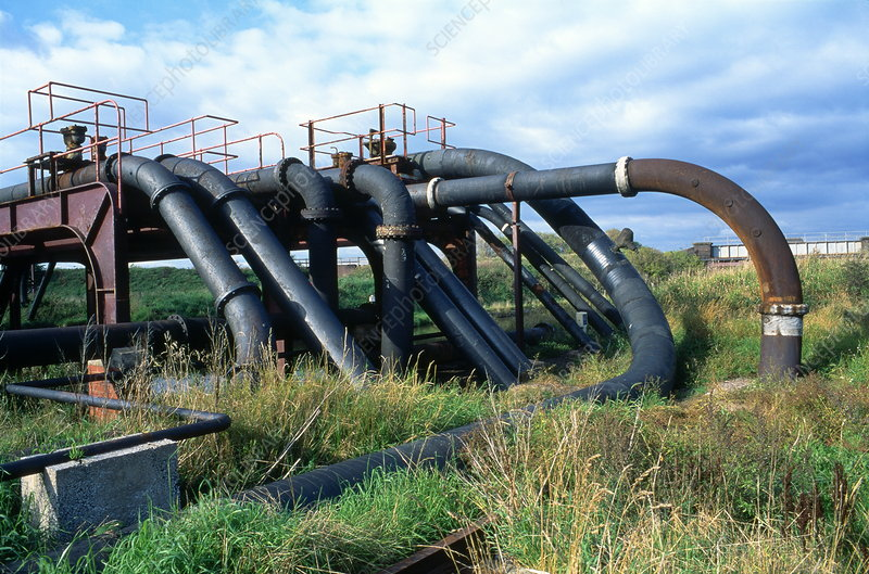 Pipes carrying brine