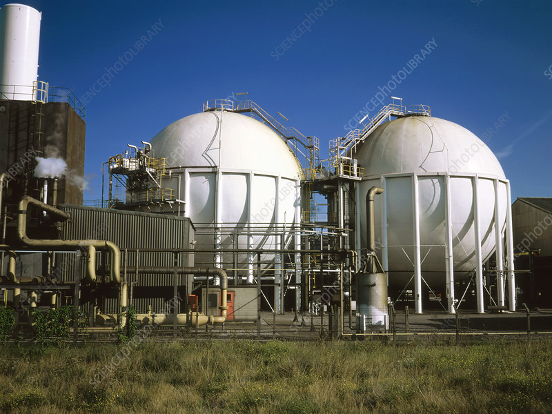 Gas storage spheres