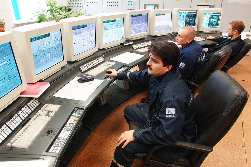 Petrochemical factory control room