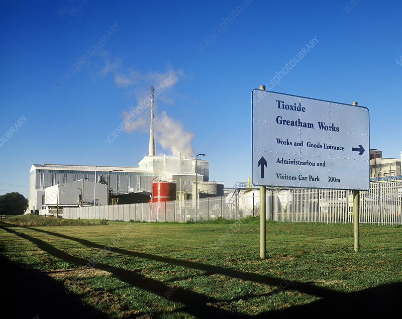 Tioxide Greatham chemical works