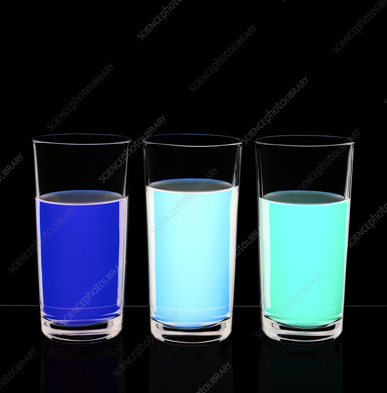 Colourful glassware used in chemistry