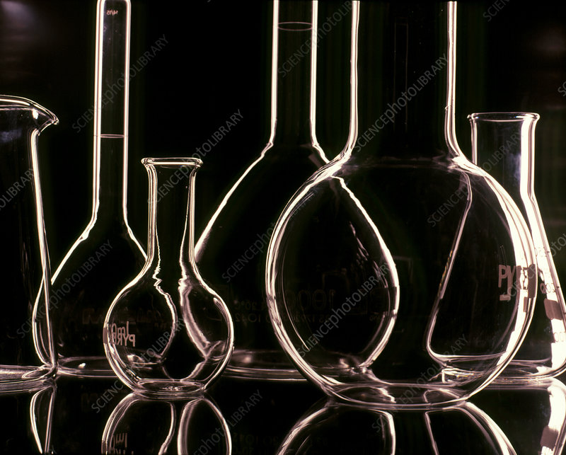 Assorted laboratory glassware