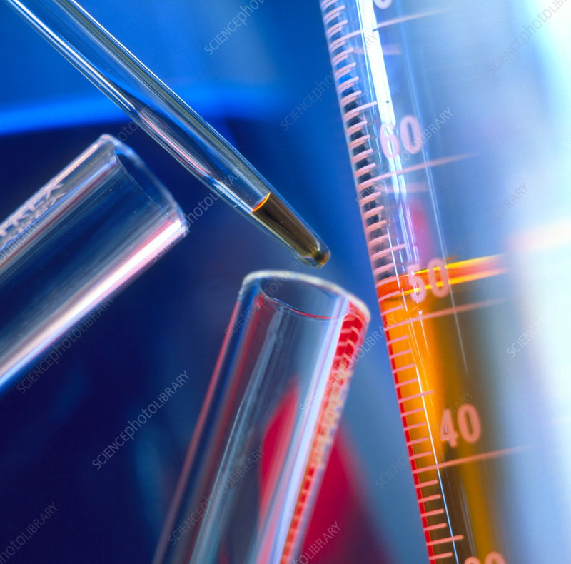 Pipette and measuring cylinder