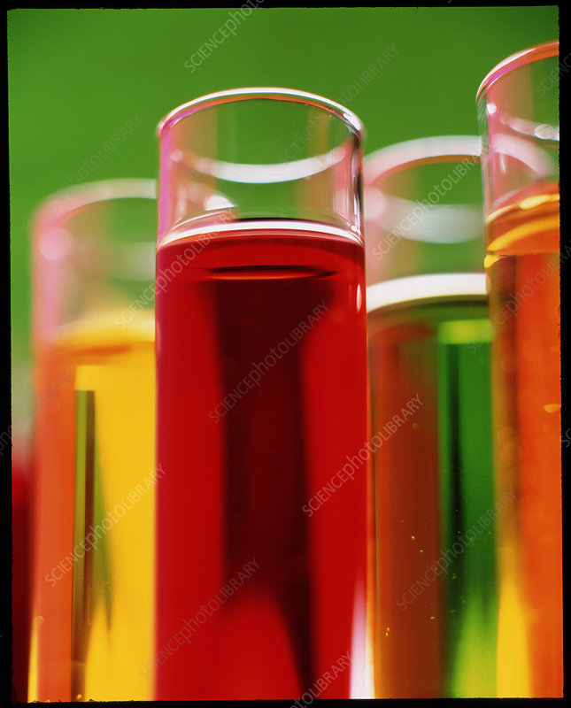 View of test tubes