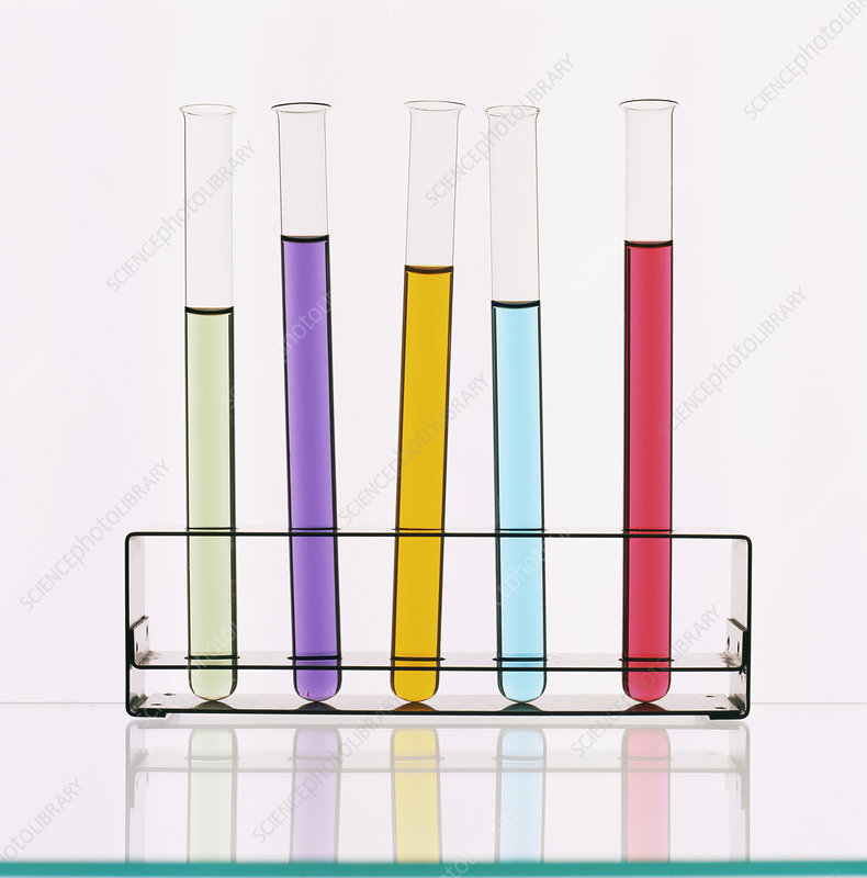 Liquid in test tubes