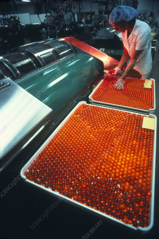 Spot control of capsules during manufacture