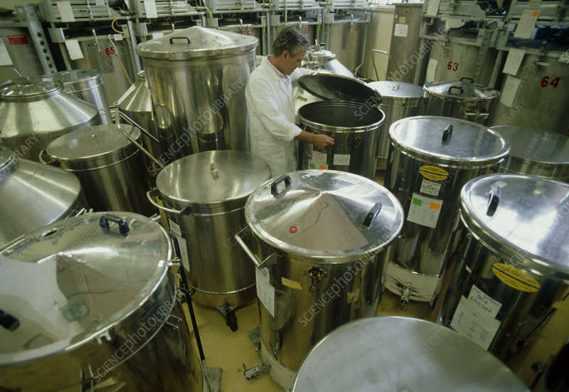 Vats used in perfume manufacture