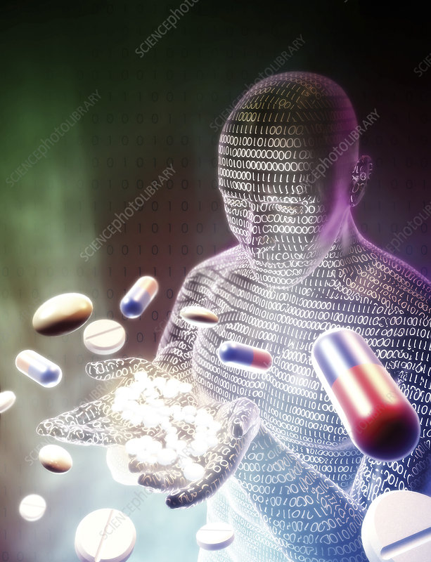 Drug research, conceptual image