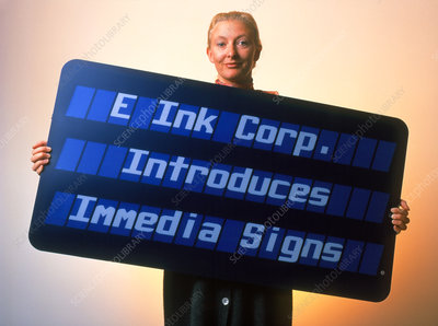 Electronic ink sign