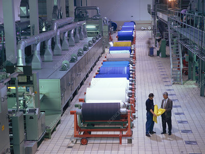 Textile finishing hall