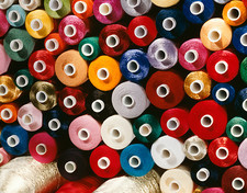 Spools of cotton