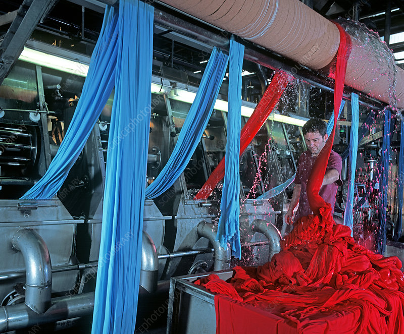 Textile industry, dyeing machine