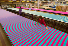 Textile industry, cutting tables