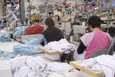 Textile industry, sewing workshop