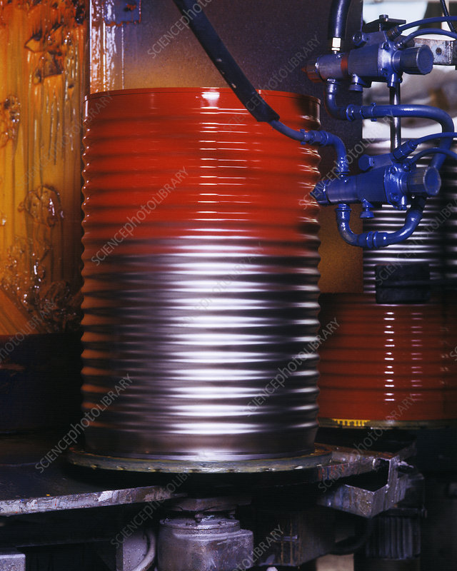 Oil drum production line