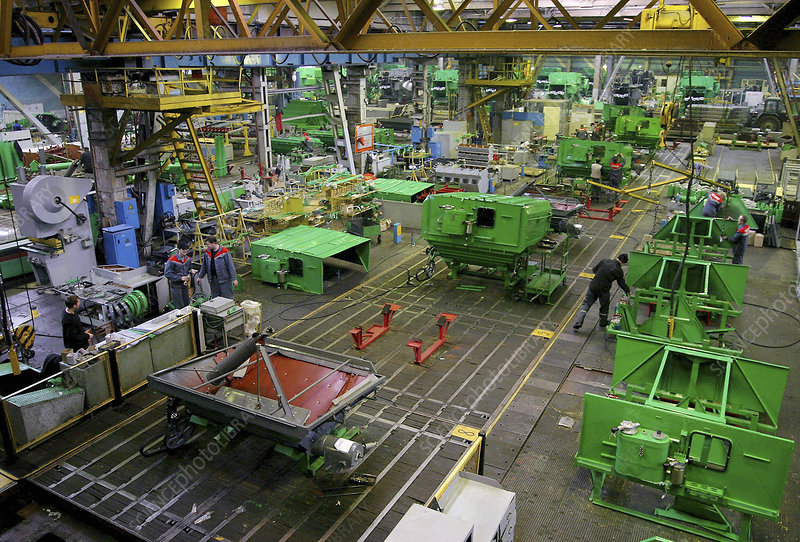Combine harvester production line