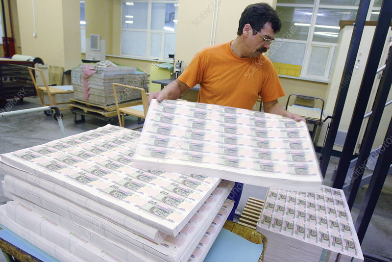 Printing money, Russia