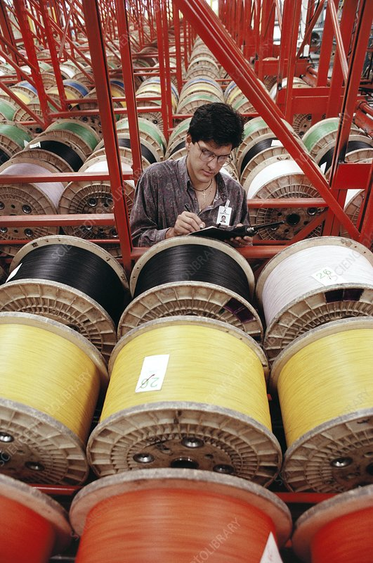Telephone cable factory