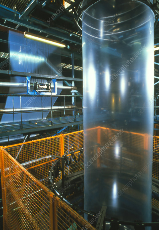 Production of tubular film for making plastic bags