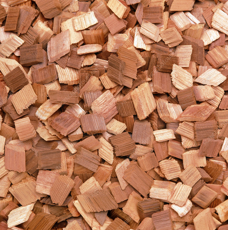 Wood chips at a paper mill
