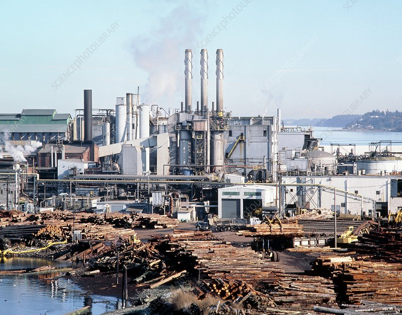 Timber processing plant, Port Angeles