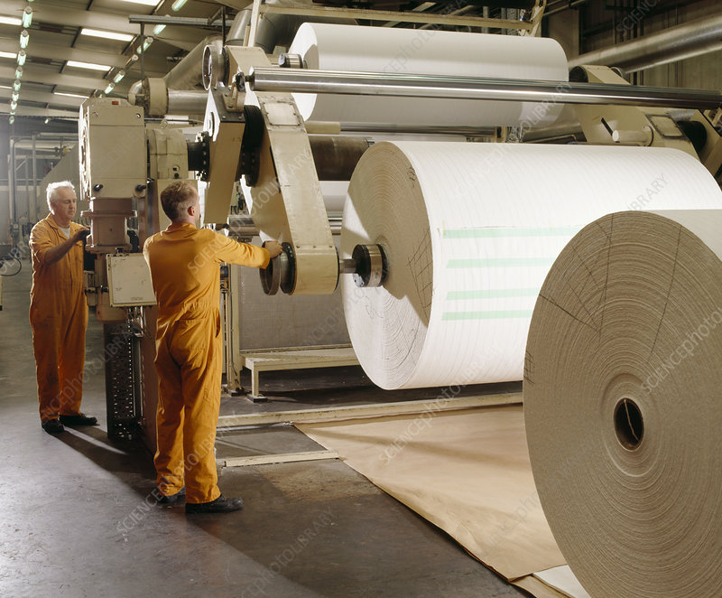 Paper roll machine