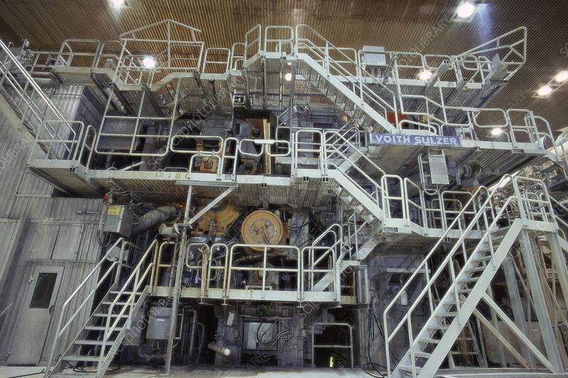 Paper coating machines