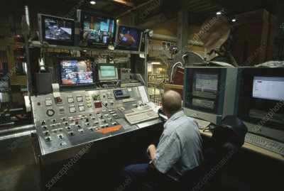 Paper mill control room