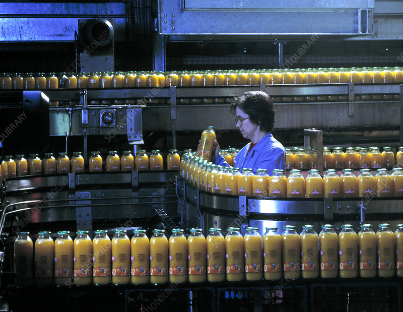 Orange juice production