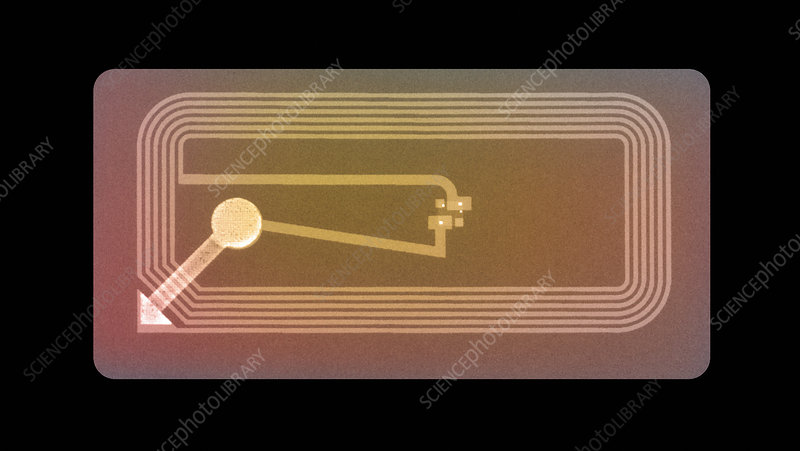 Security chip from packaging, X-ray