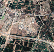 Abu Ghraib prison, Iraq, satellite photo
