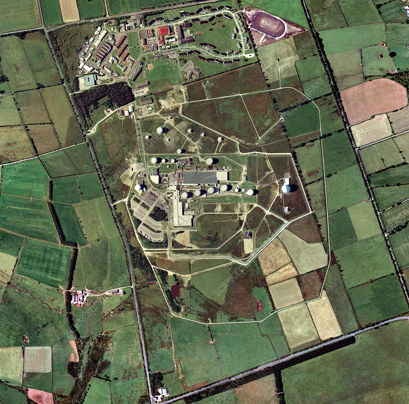 Menwith Hill spy base, aerial image