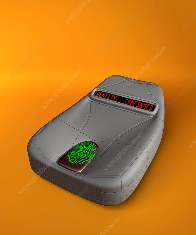 Fingerprint scanner, computer artwork